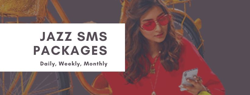 Jazz daily weekly and monthly SMS plans for prepaid users