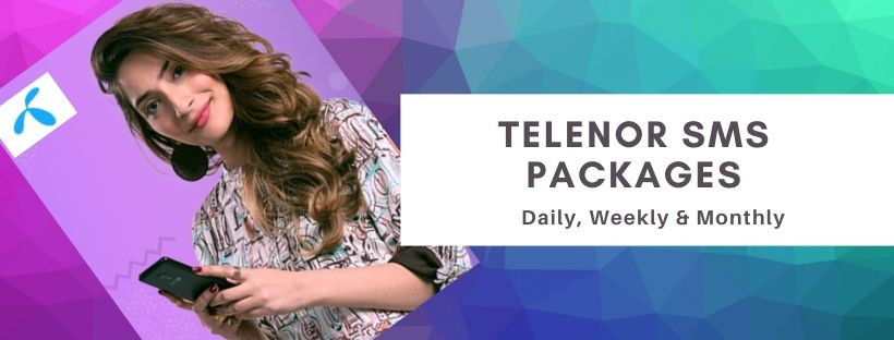 Telenor daily, weekly and monthly sms packages