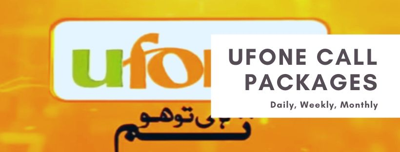 Ufone daily, weekly, monthly call plans