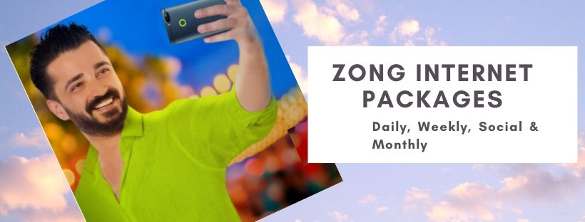 Zong daily, weekly and monthly internet plans