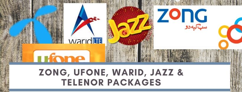 Ufone, Telenor, Zong, Warid and Jazz packages