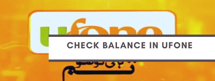 Balance Inquiry codes for Ufone Users
