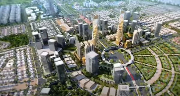 Commercial area of Lahore Smart City